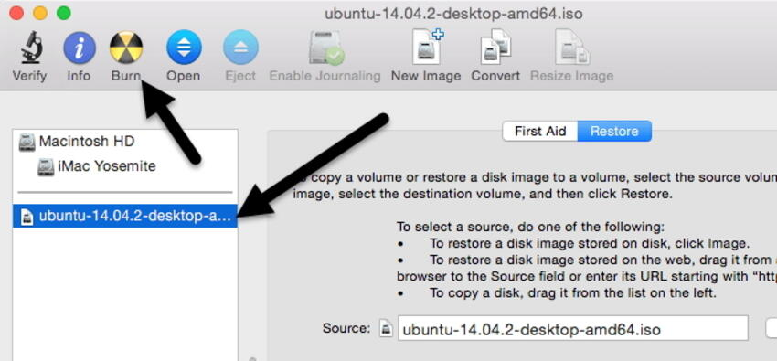 Using Disk Utility to Burn ISO to DVD
