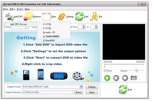 free DVD FLV converters - VideoTool Cute DVD to FLV Converter Free