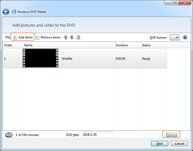 Convertir WMV en DVD en utilisant Windows Movie Maker