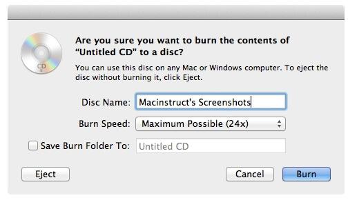 dvd in Mac brennen - schritt 3