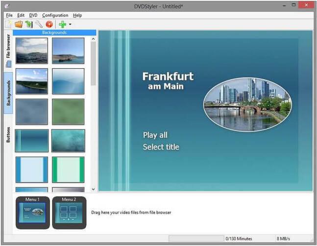 Windows 7 DVD Makers - DVD Flick