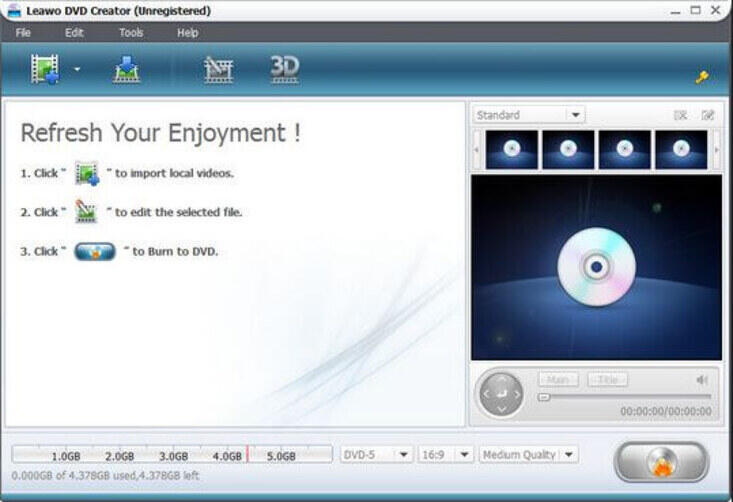 Windows 8 DVD Maker - Leawo DVD Creator
