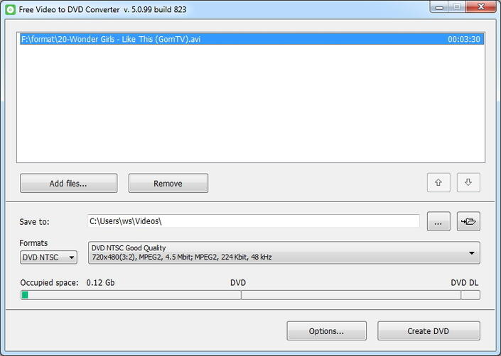 DVDVideoSoft Free Video to DVD Converter
