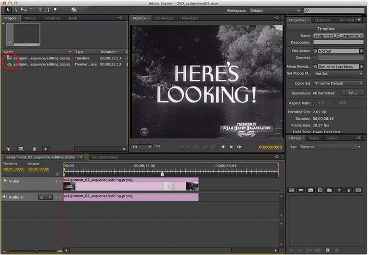 Finish the setttings for editing DVD with premiere