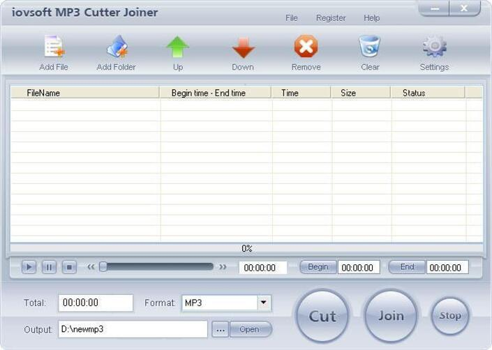 Free iovSoft MP3 Cutter Joiner
