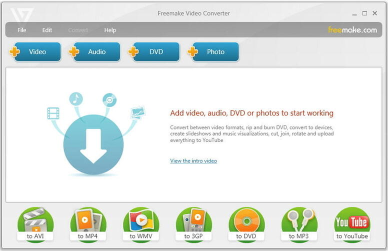 Video zu DVD Konverter Freemake Video Converter
