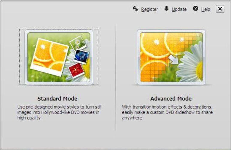 Make a Slideshow with DVD Slideshow Builder Deluxe - Step 1