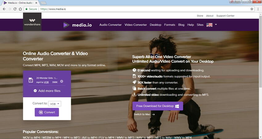 conversor mp4 a dvd en línea gratuito Online UniConverter (originally Media.io)