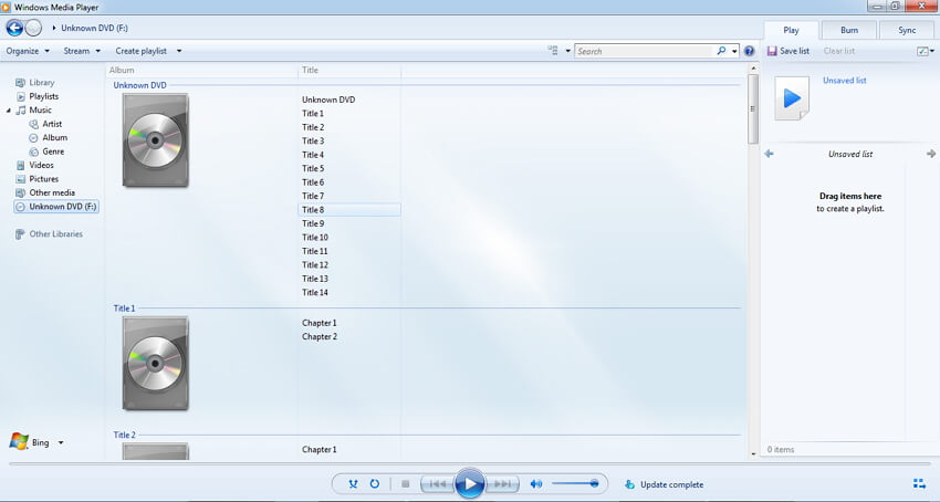 play DVD with windows media player