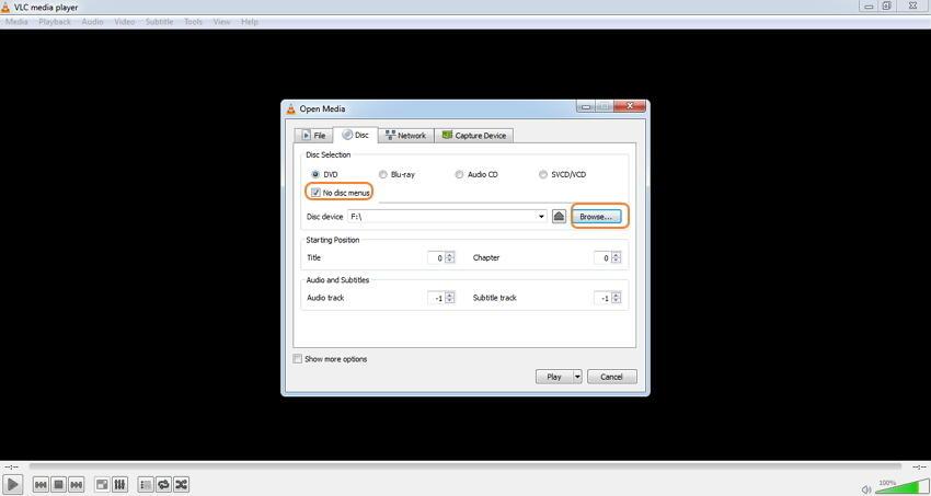 выбрать DVD, чтобы добавить файлы
