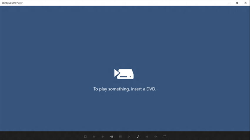 Using Windows DVD Player to watch DVD on Windows 10