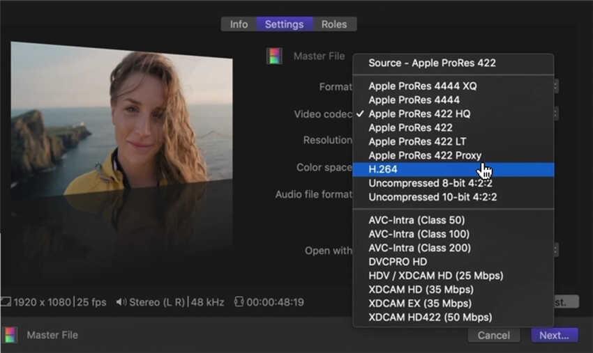 Wie man Final Cut Pro Videos speichert