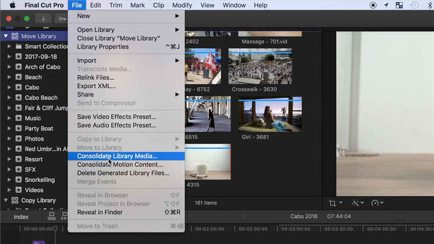 how to save final cut pro x project