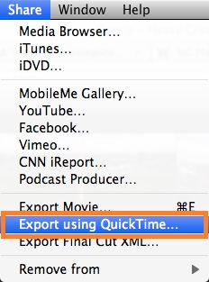 export file
