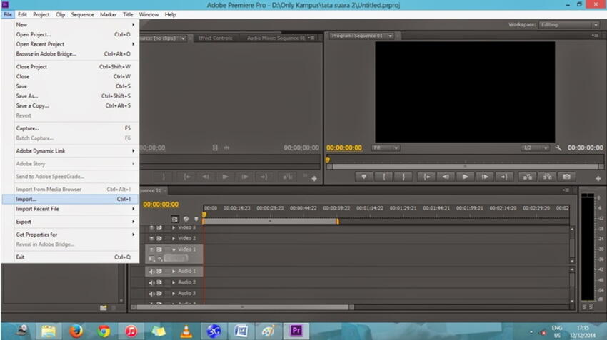 edit flv in adobe premiere