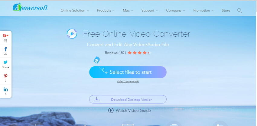Apowersoft Converter -Flv to MOV online converter
