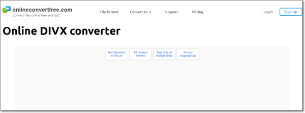convert FLV to DivX-Onlineconvertfree