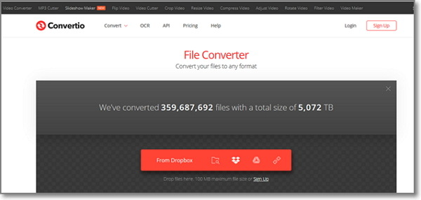convert FLV to WAV by Convertio