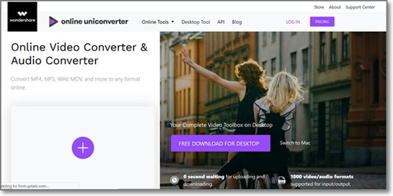 convert FLV to WAV by Online Uniconverter