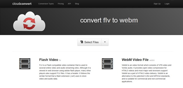 flv to webm online-CloudConvert