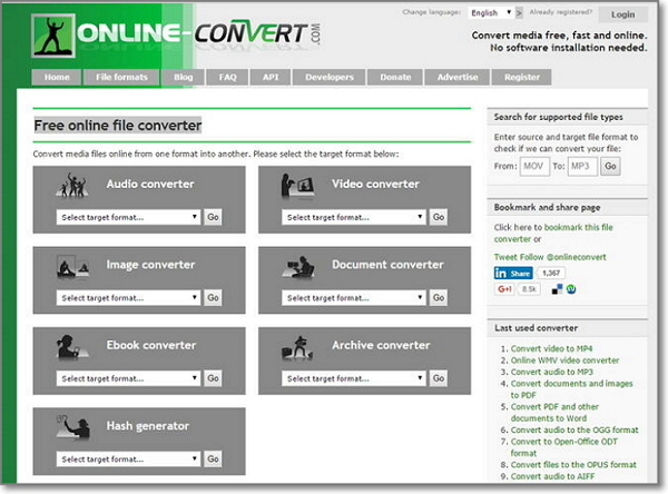 Online-Convert -Flv to MOV online converter