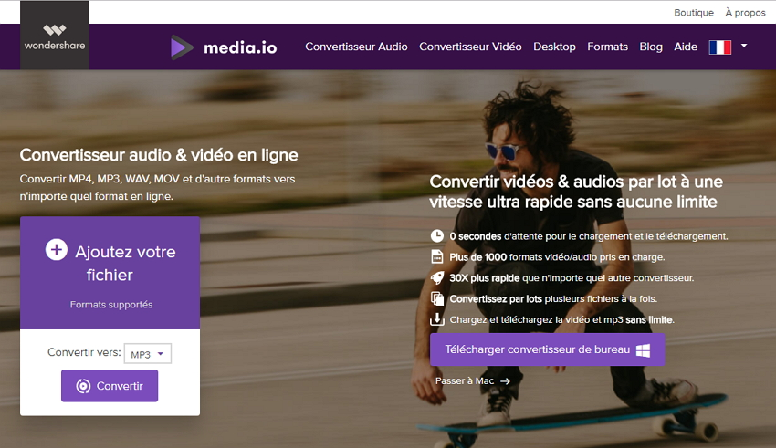 wondershare convertisseur video gratuit en ligne