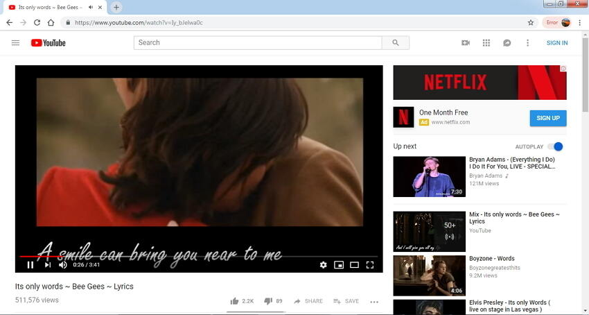 copiar enlaces YouTube