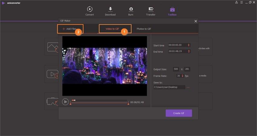 add video in the wondershare uniconverter