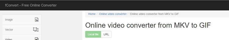 MKV to GIF Online Converter-fConvet