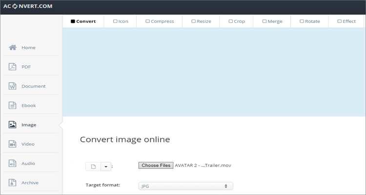 QuickTime to GIF Online Converter-AConvert