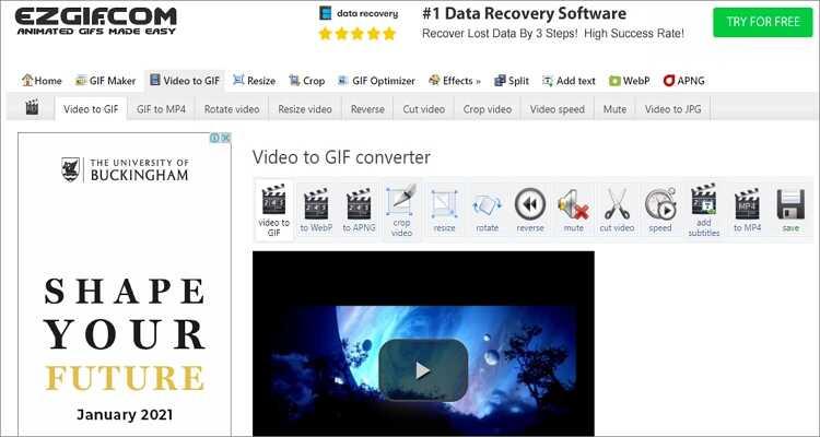 Combine GIFs em um on-line gratuitamente - EZGIF