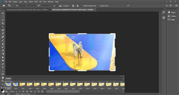 como combinar GIFs em um online com photoshop