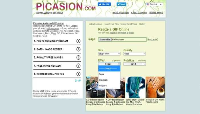 Online GIF Compressor -Picasion