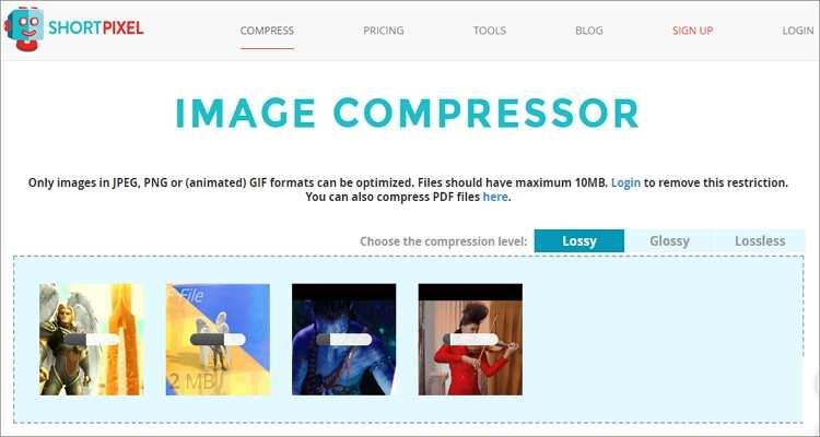 Online GIF Compressor -Shortpixel