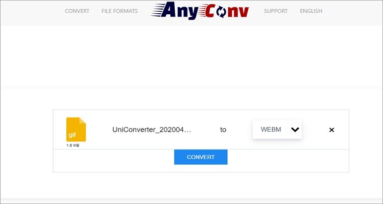Convert GIF to WebM Online -AnyConv