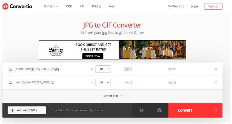 Convert JPG to GIF Online Free -Convertio