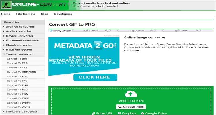 Convert PNG to GIF Online Free -Online-Convert