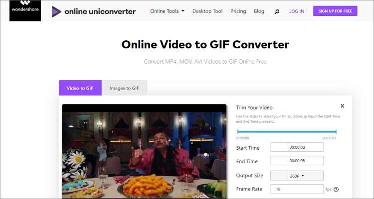 online Photoshop gif maker alternative-Online UniConverter
