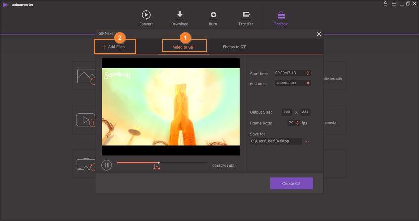 load video into uniconverter