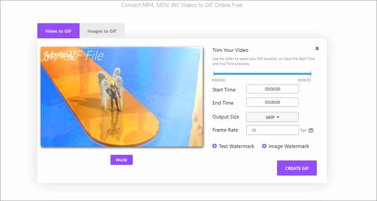 Online Solutions to Crop GIF - Online UniConverter