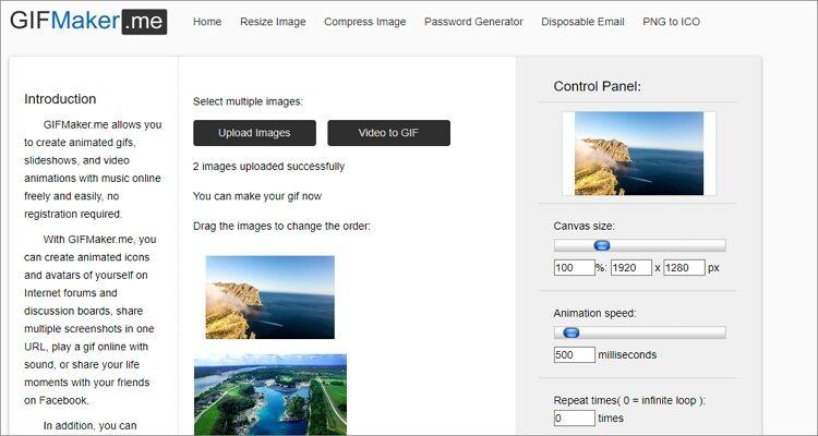 Animated GIF Online Editor-GIFMaker