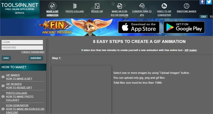 GIF maker online tool-TOOLSON