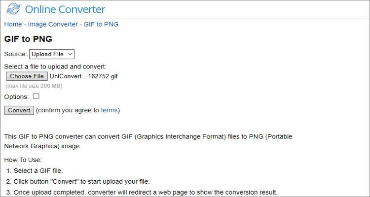 convert GIF to PNG online - Online Converter