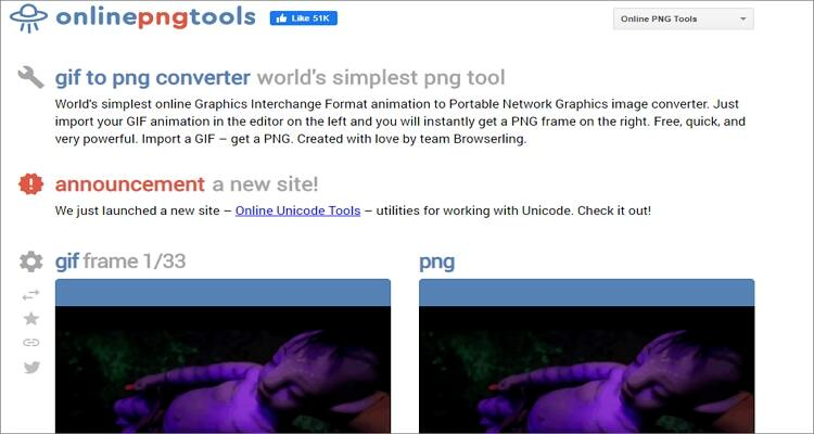 convert GIF to PNG online - Onlinepngtools