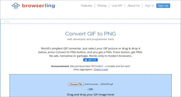convert GIF to PNG online - Browserling