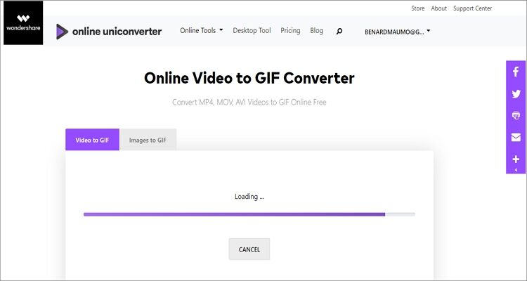 convert youtube file to gif online - Online UniConverter