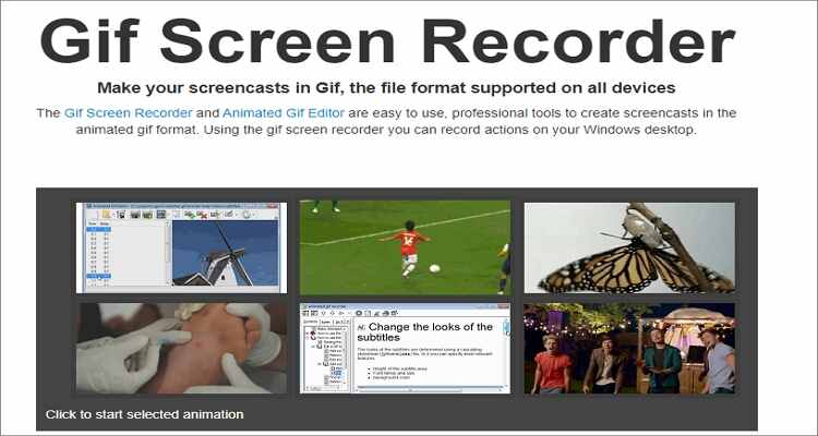 Screen to GIF Converters Online Free-GIF Screen Recorder