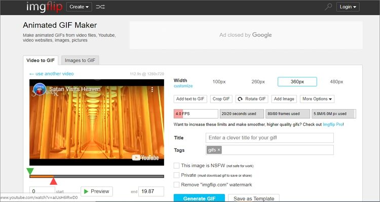 Make YouTube to GIF Online Free -ImgFlip