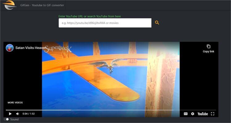 Make YouTube to GIF Online Free -GifGen