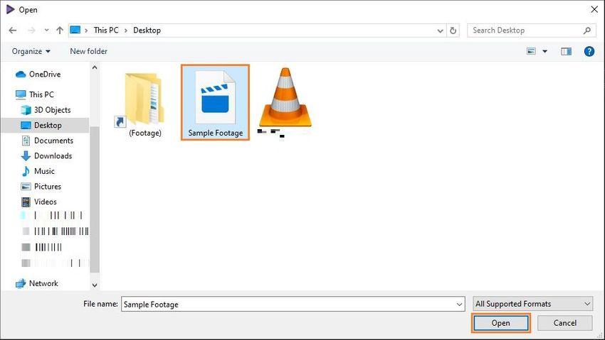 add gopro 4k file